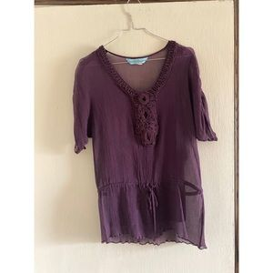 Guess by Marciano Eggplant purple Blouse